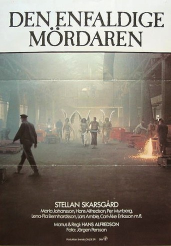 Affisch för Den Enfaldige Mördaren