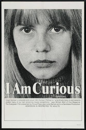 Affisch för Jag Är Nyfiken - Gul