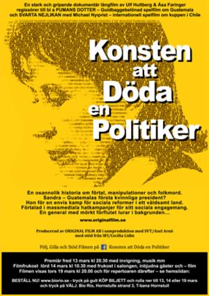 Affisch för Konsten Att Döda En Politiker