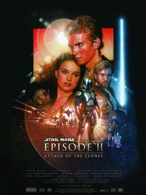 Affisch för Star Wars: Episod II - Klonerna Anfaller