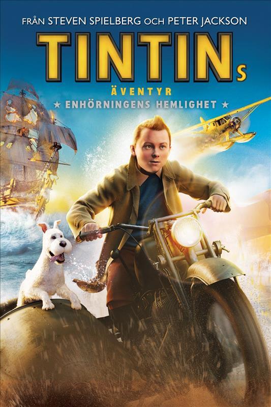 Affisch för Tintins Äventyr: Enhörningens Hemlighet